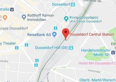 Düsseldorf Central Station map